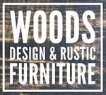 Woods Design and Rustic Furniture Logo