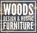 Woods Design and Rustic Furniture Logo